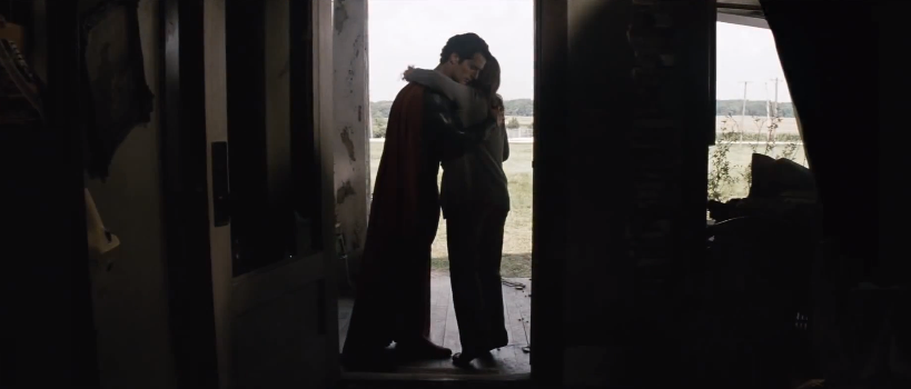 Man of Steel hug