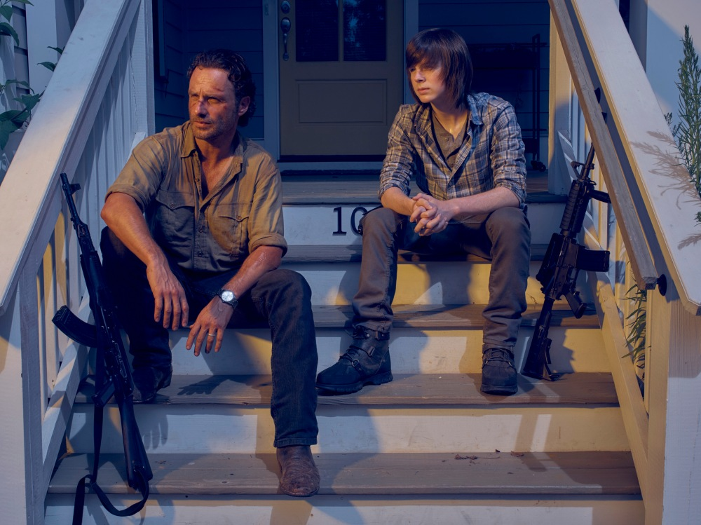Rick-and-Carl-at-Alexandria-in-The-Walking-Dead-Season-6